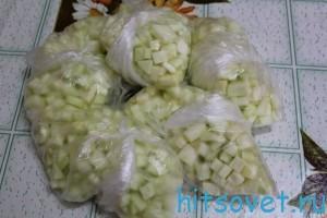 заморозка кабачков