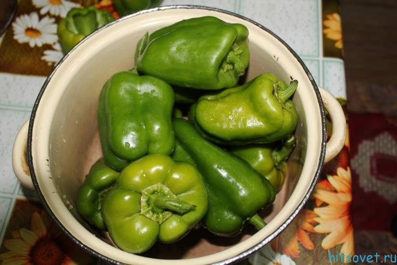 Зеленый болгарский перец рецепты на зиму фото