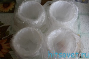 одноразовые стаканы с пакетиками