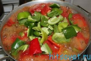 Варить болгарский перец в кетчупе