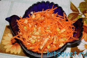 Салат морковь с яблоками