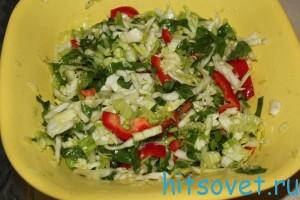 салат капуста с блитвой