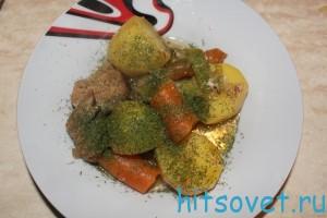 говодина с овощами в духовке