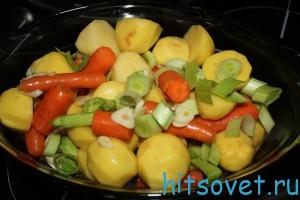 сложить овощи