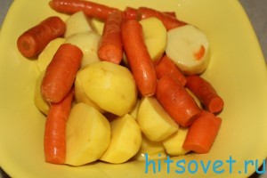 смазать овощи растительным маслом