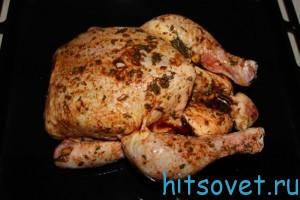 курицу в духовку