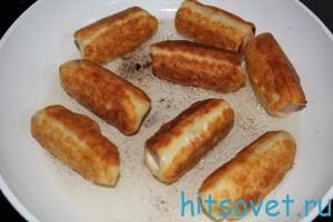 обжарить сосиски в тесте