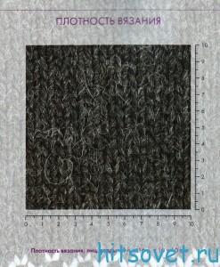 Антрацитовый жакет спицами, плотность вязания.