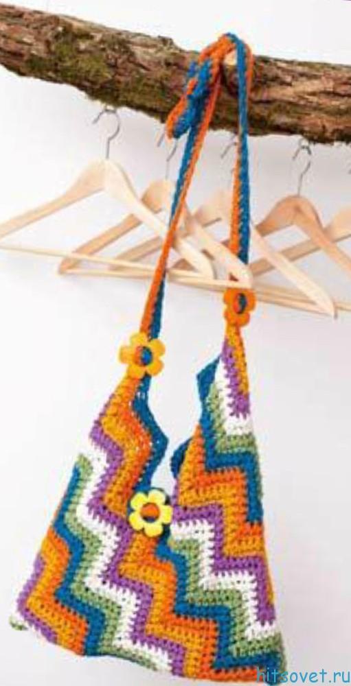Вязание крючком сумки, фото 2.