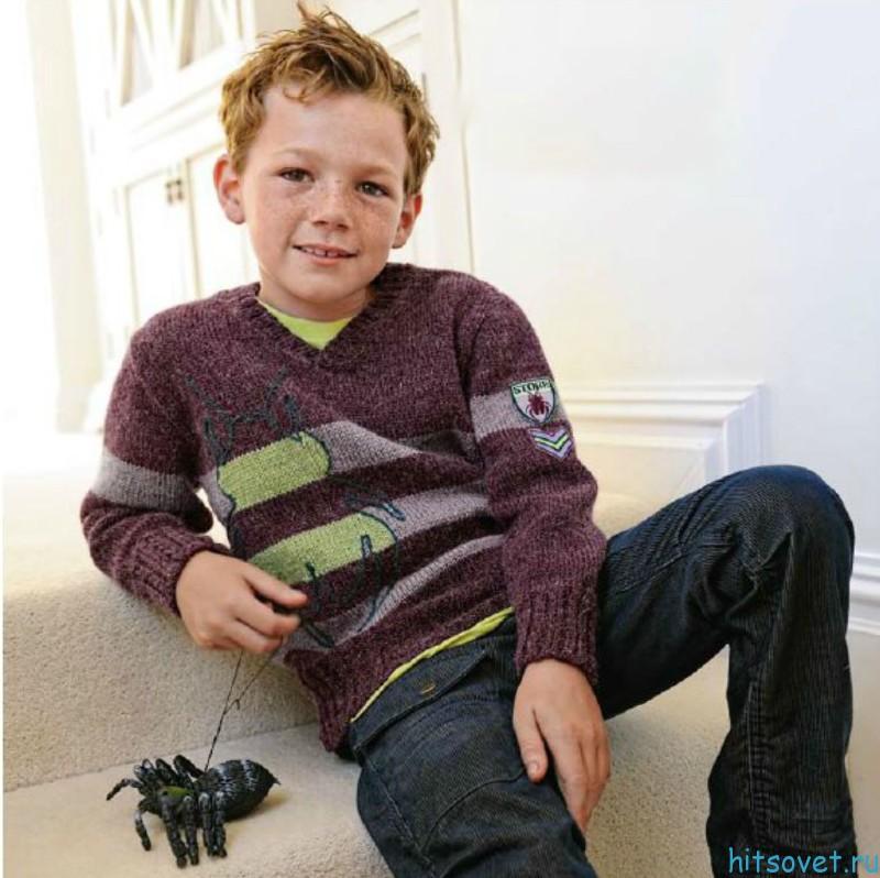 Меланжевый джемпер для мальчика