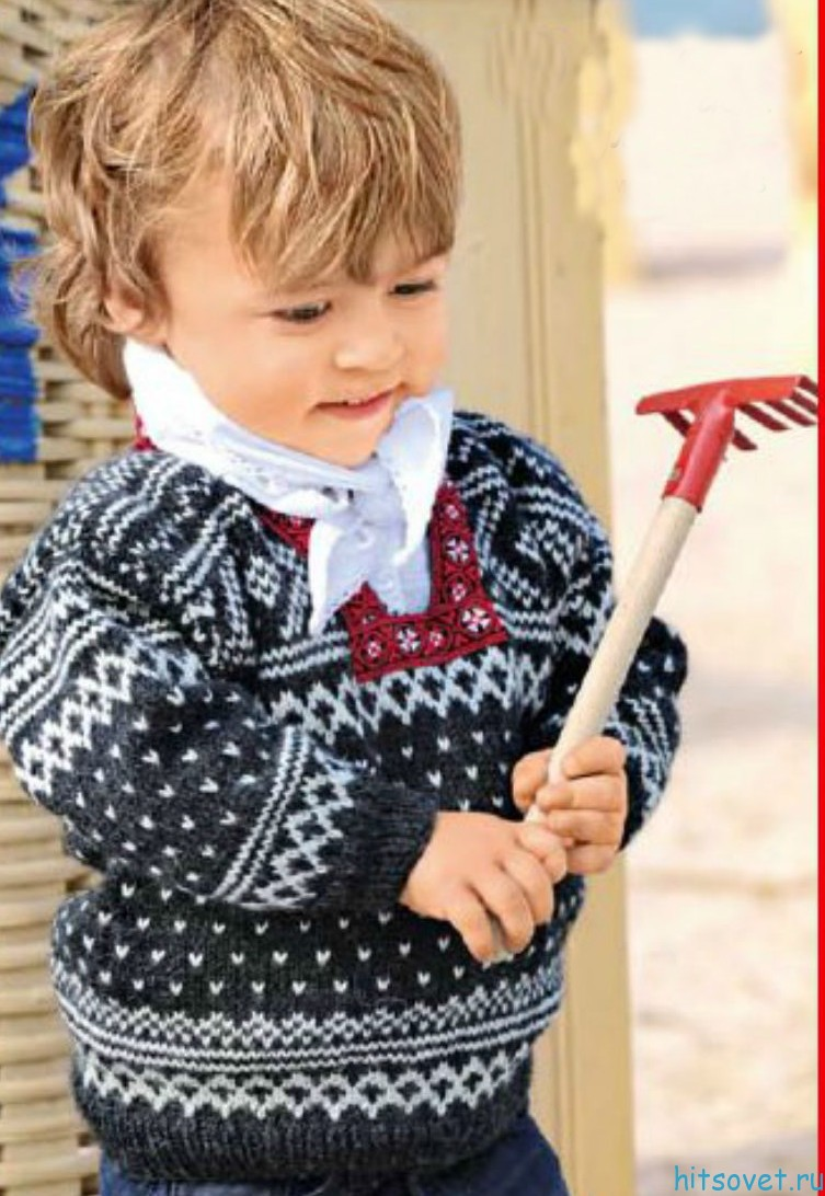 Норвежский пуловер для мальчика