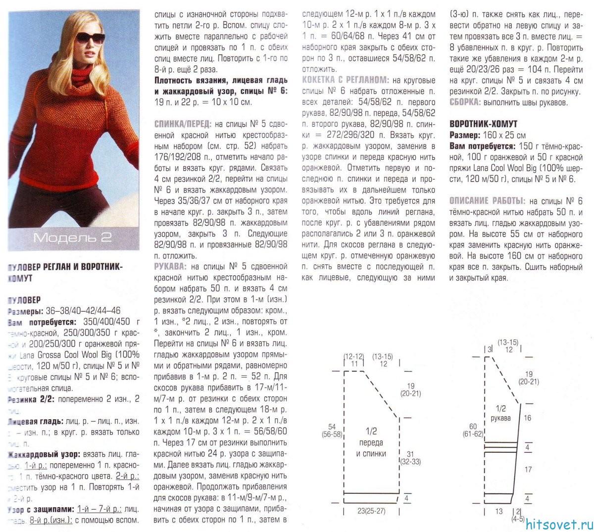 Женский свитер реглан сверху спицами схемы с описаниями