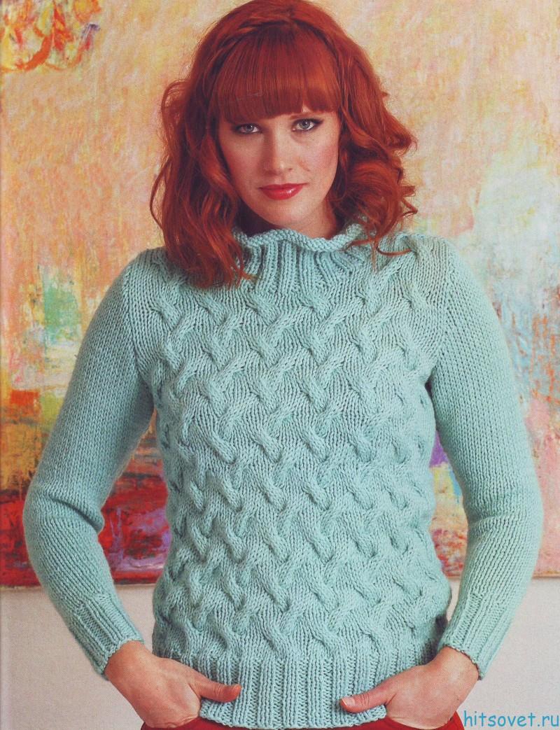 Модная модель женского свитера, фото.