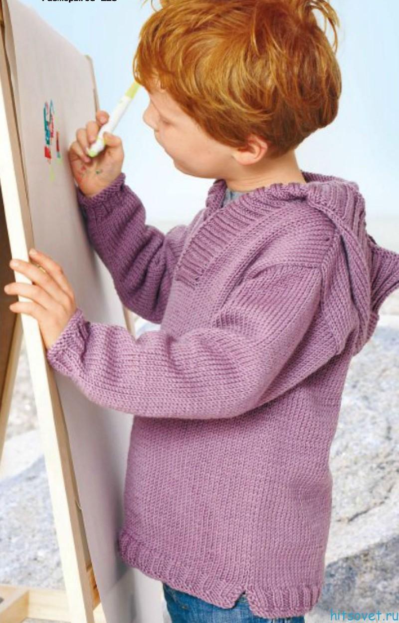 Детский свитер спицами описание
