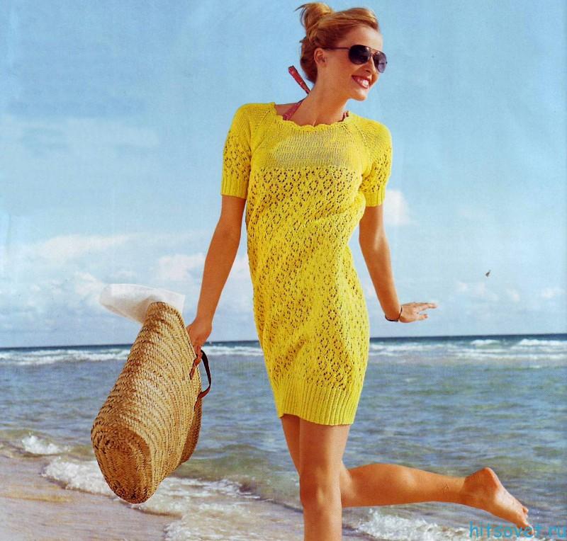 Вязание платья баллон
