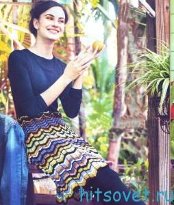 Вязание платья с зигзагообразным узором