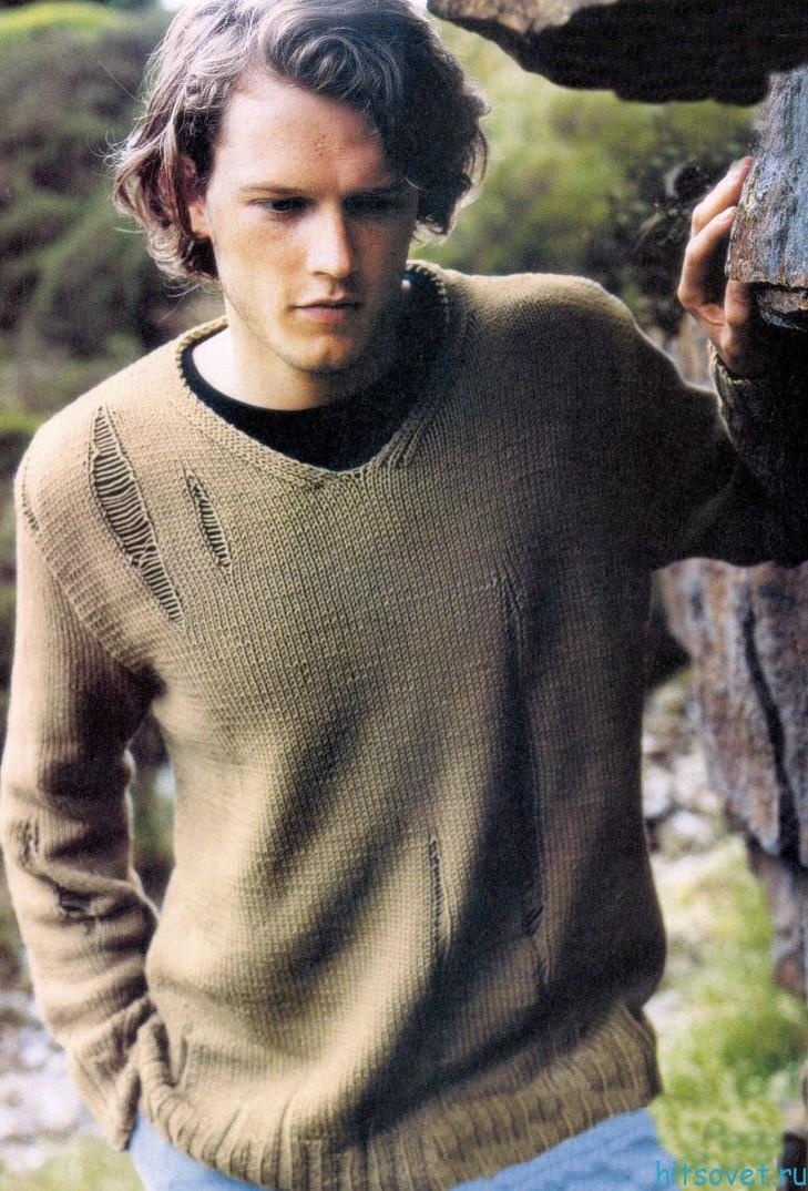 Пуловер спицами – Притяжение земли