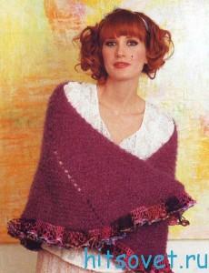 Вязание шали с оборками, фото 2.