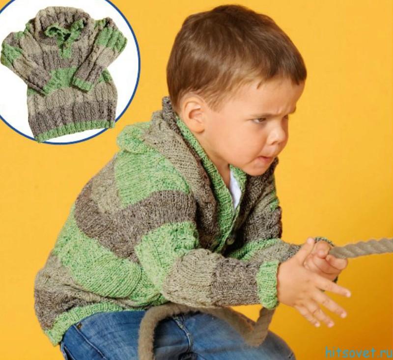 Свитер детский с капюшоном