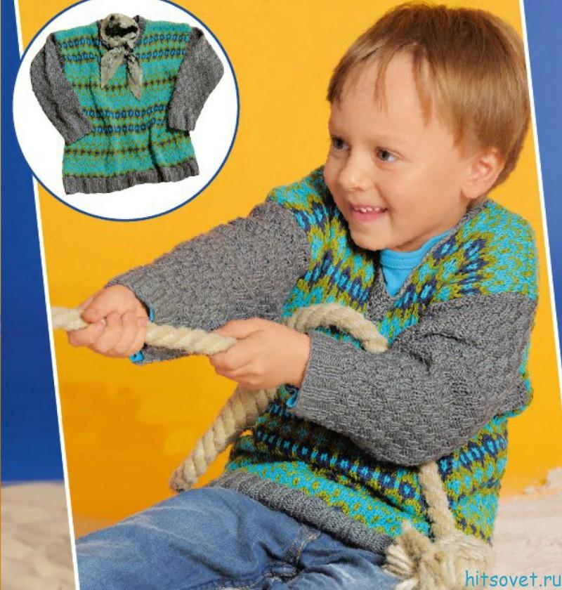 Жаккардовый свитер детский