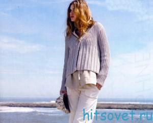 Жакет спицами для женщин, фото 2.
