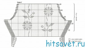 Вязание жакета в технике интарсия, схема 2.