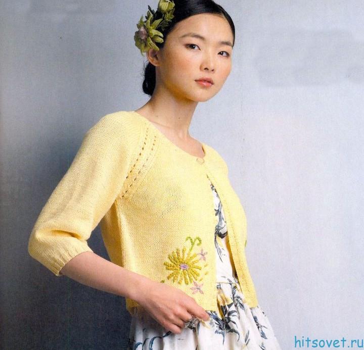 жакет спицами - Хризантема