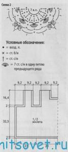 Вязание жилета из мотивов, схема 2.