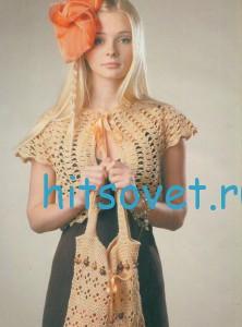 Вязание болеро и сумочки