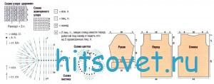 Вязание кофточки жемчужным узором, схемы.
