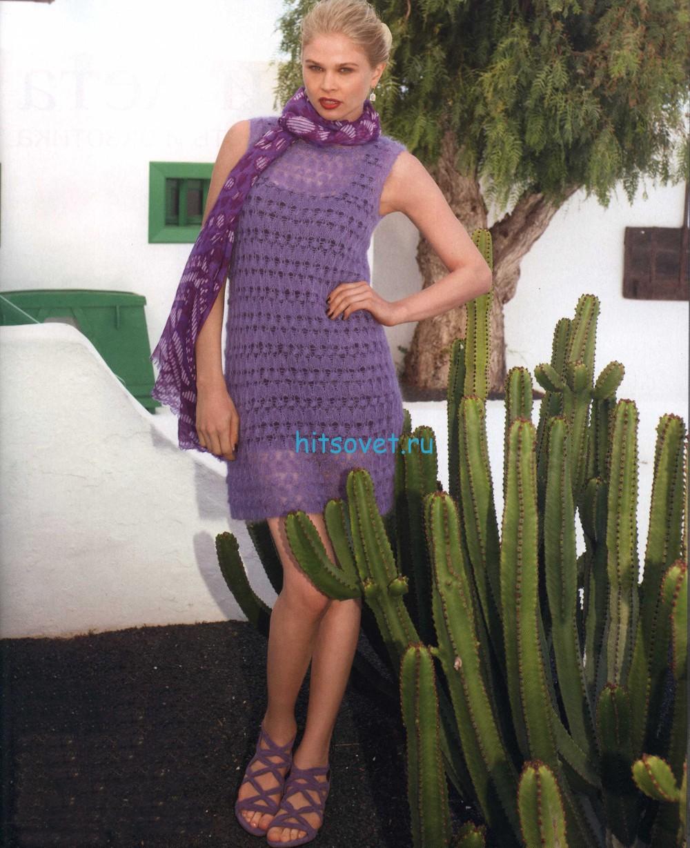 Вязание платья А-образного силуэта