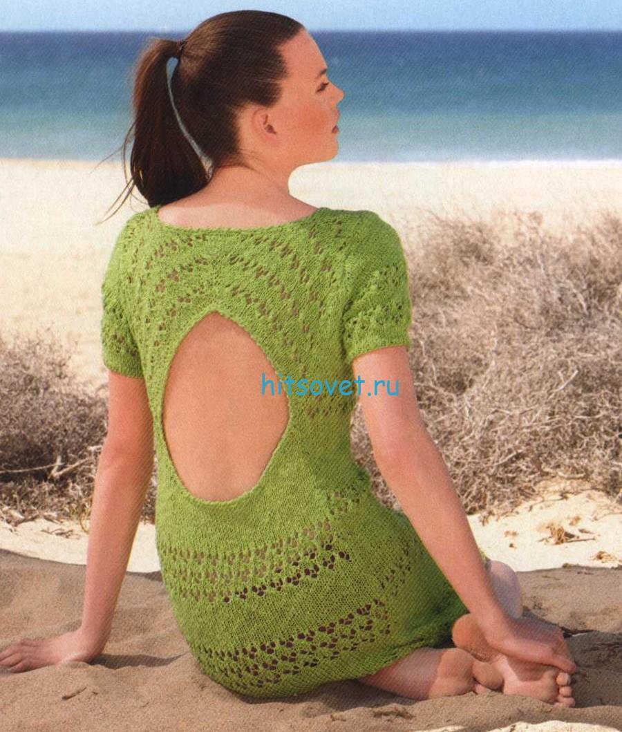 Вязаное платье, фото 2.