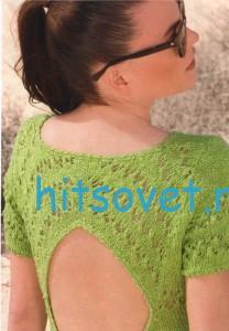 Вязаное платье, фото 3.