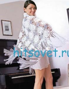 Вязание шали вальс цветов, фото 2.