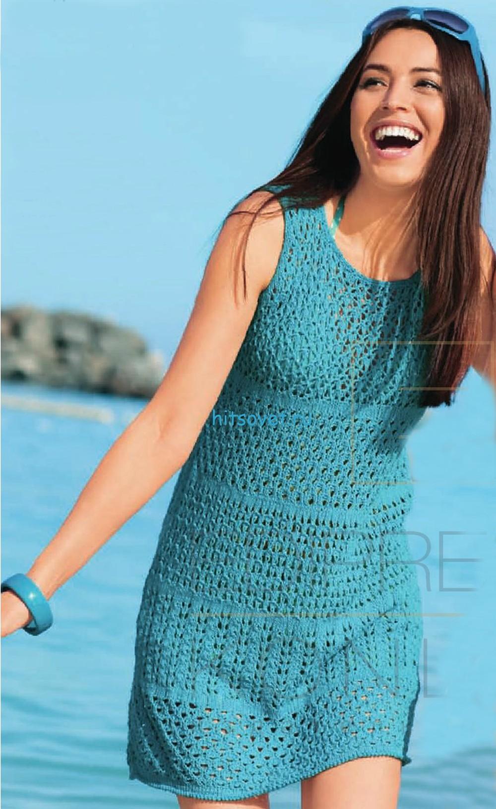 Вязание платья с красивыми узорами