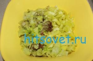 Салат и болгарский перец