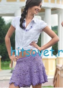 Вязание крючком юбки