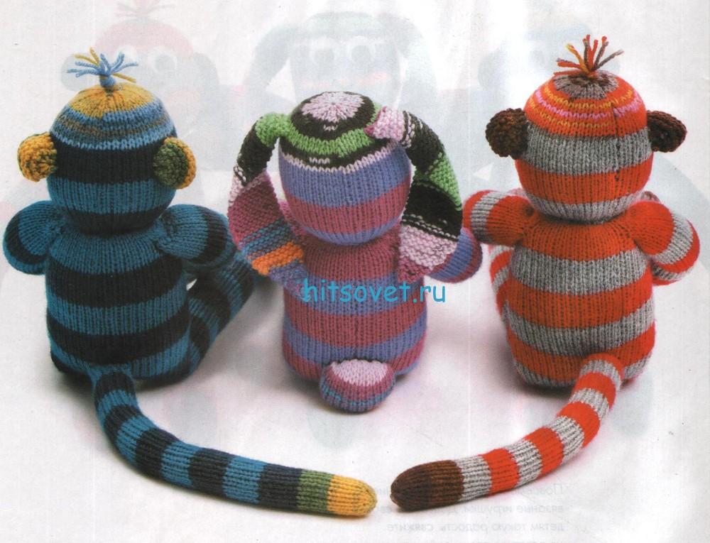 Вязаные обезьянки, фото 2.