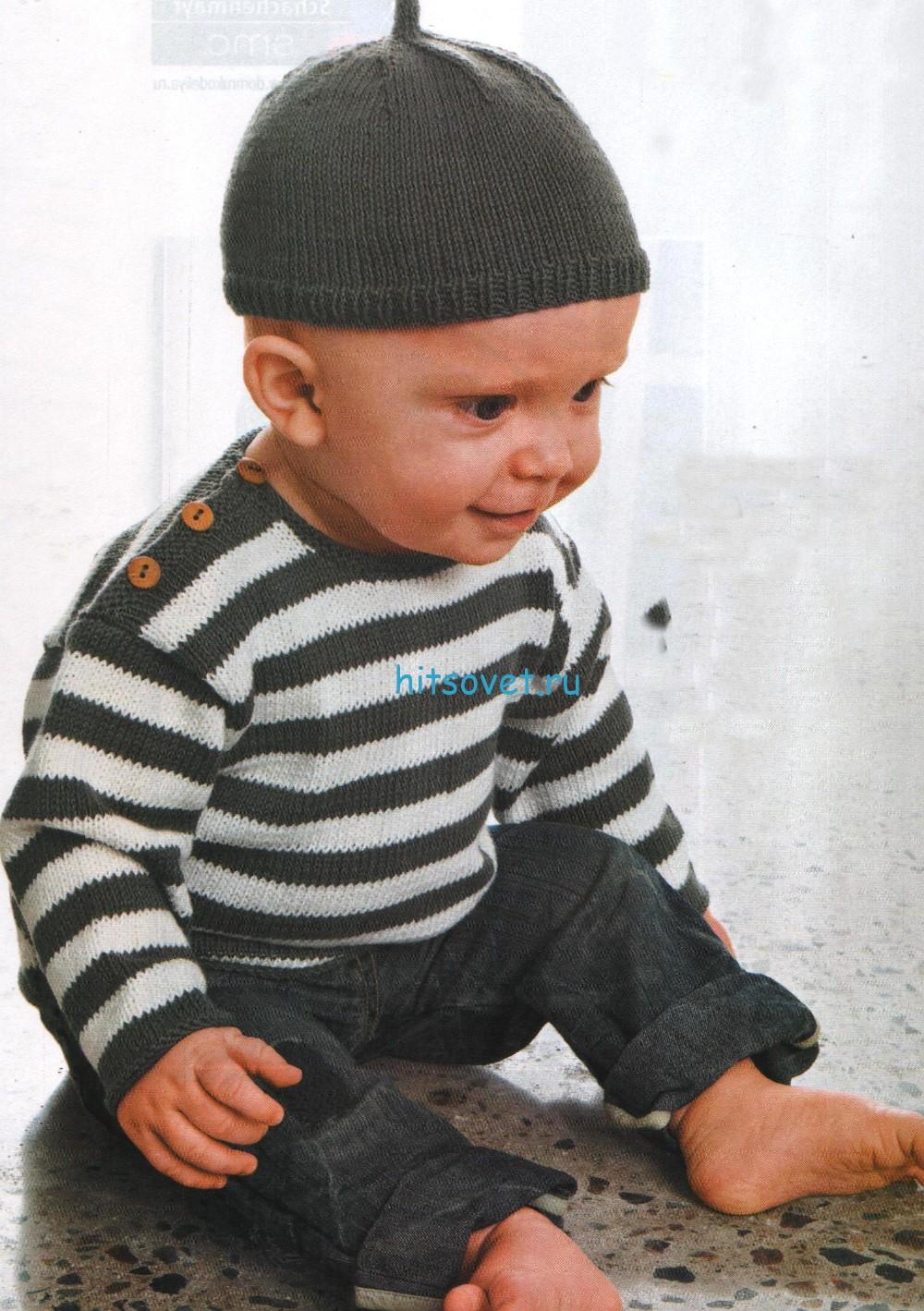 Вязание для малышей – джемпер и шапочка