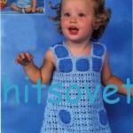 вязание платья для девочки