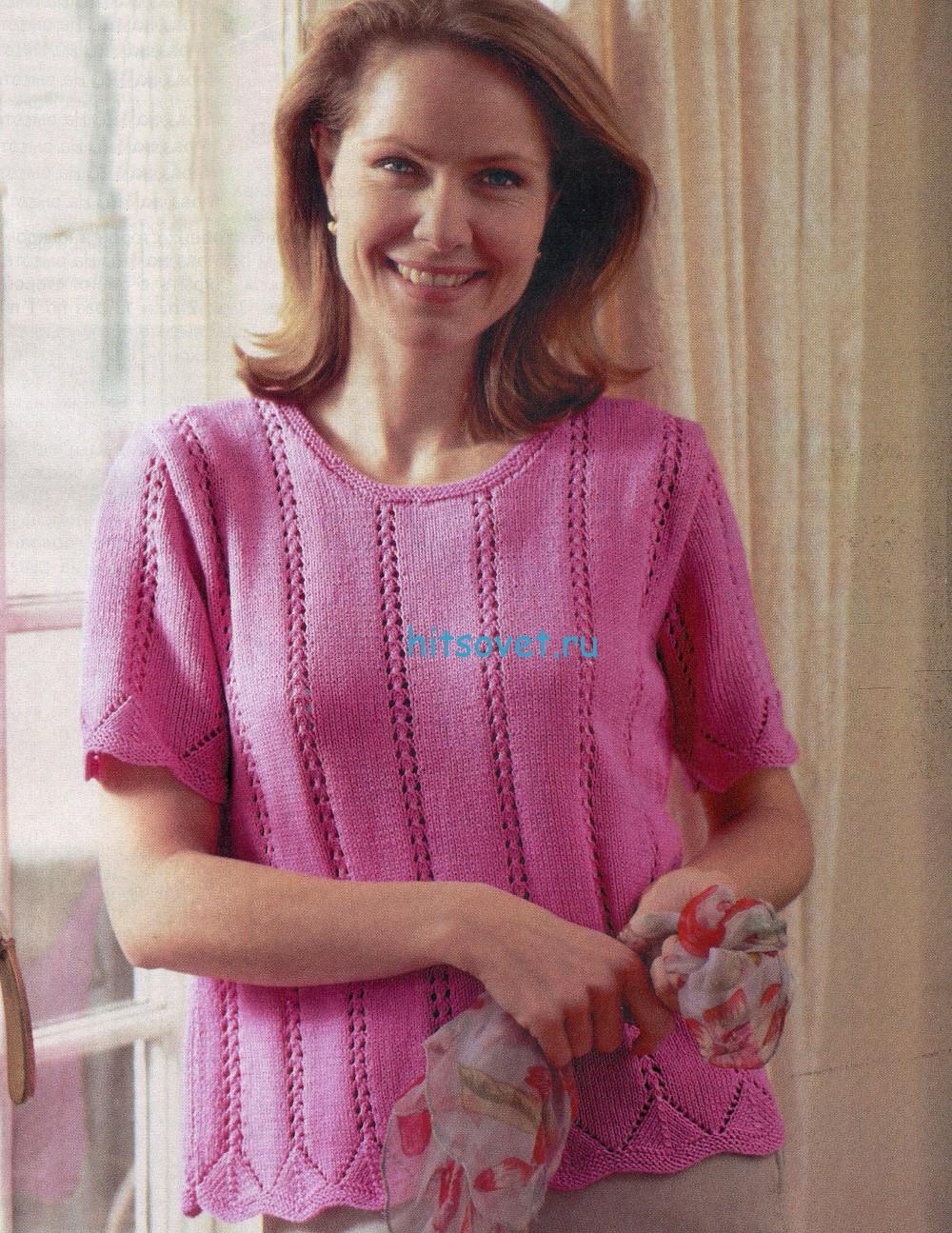 Вязание пуловера из хлопка