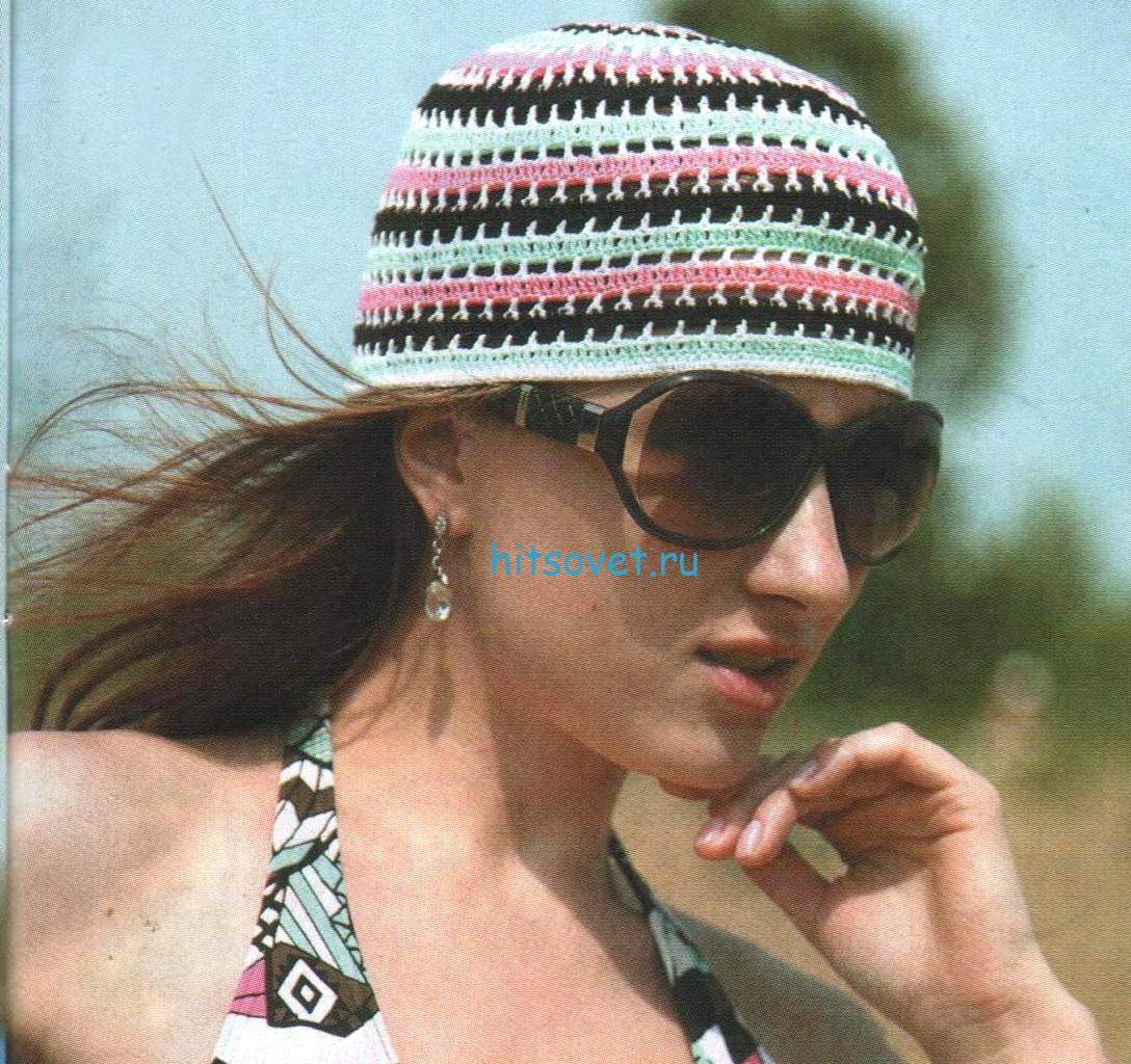 Летняя шапочка крючком схема