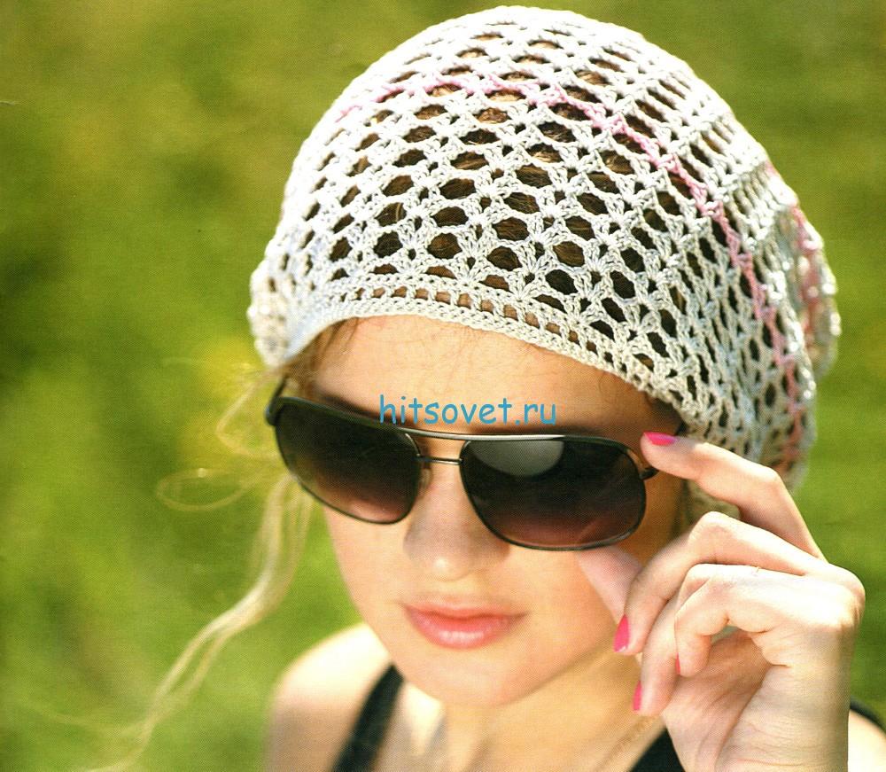 Вязание крючком летние головные уборы для женщин схемы