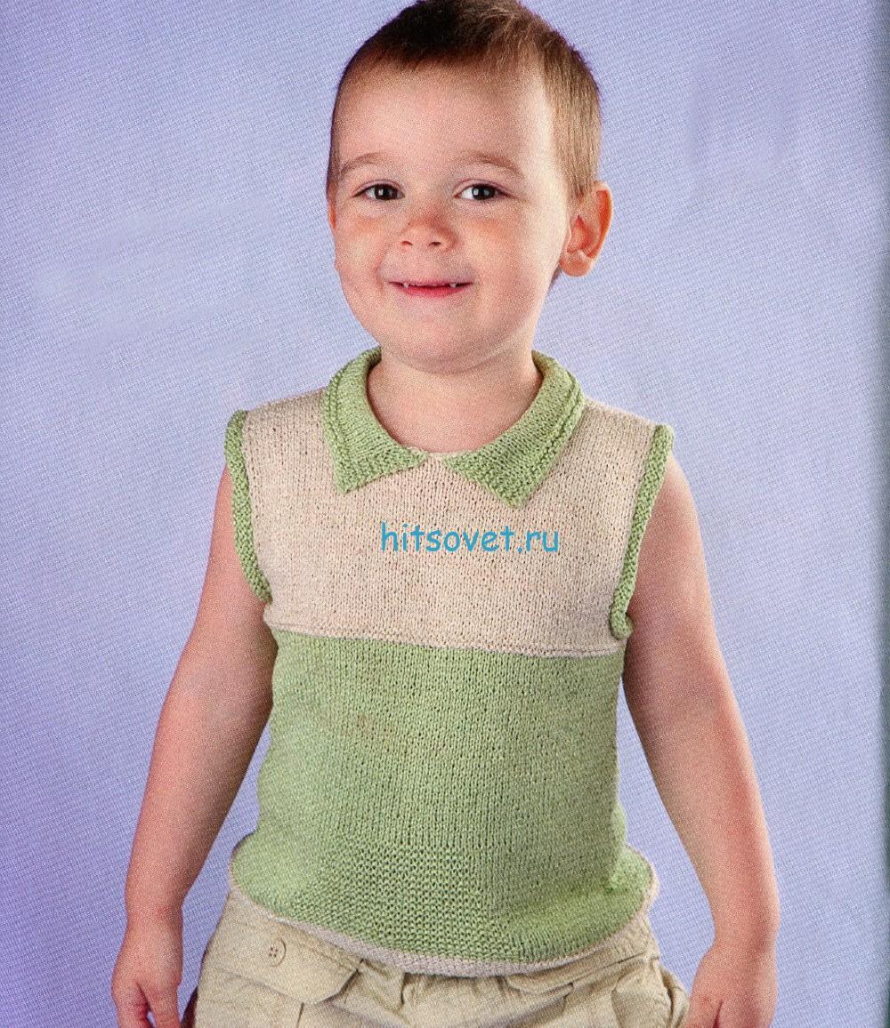 Вязание для мальчика 3 года безрукавки