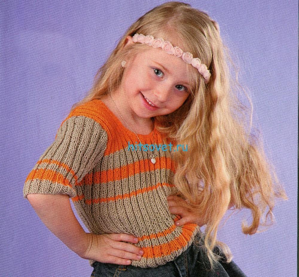 Вязание детской кофточки резинкой