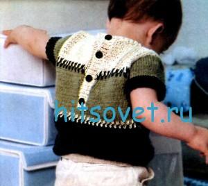 Пуловер для мальчика с короткими рукавами, фото 2.