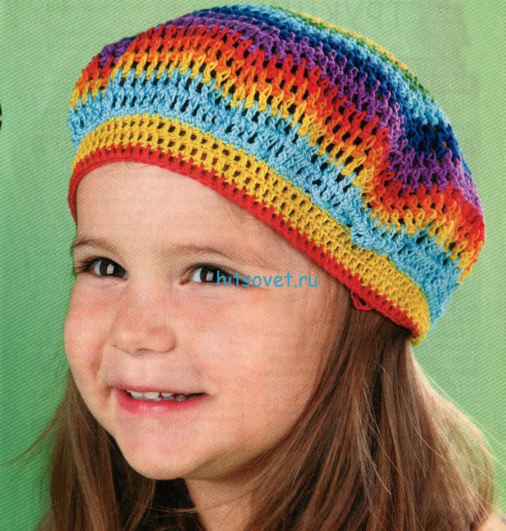 Вязание берета для детей