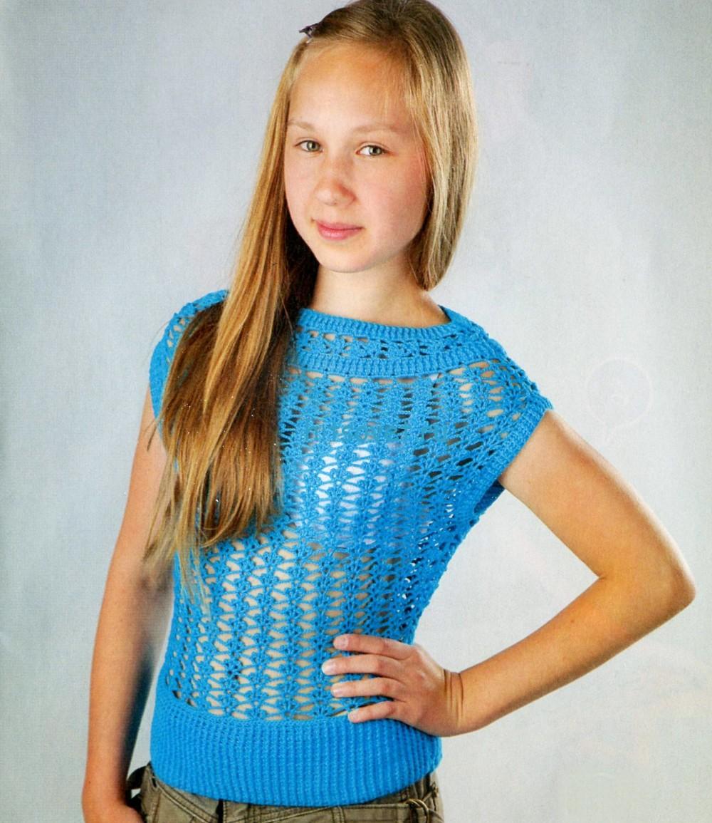 Вязание топов для девочки 14 лет