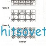 Полосатая туника с описанием вязания, схема.