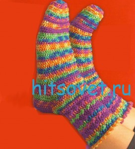 Вязание носков крючком от мыска. Мастер класс